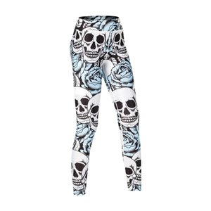 Hot Sale Print Yoga Pants Pocket Sports Tights Fitness Nine Points Outside Wear High Waist Leggings Yoga Pants