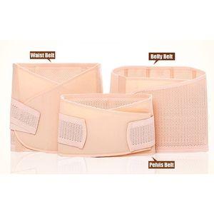 New 3in1 Bauch / Abdomen / Pelvis Postpartum Gurt-Körper-Recovery-Shapewear Bauch dünne Taillen Cinchers Breathable Waist Trainer Korsett