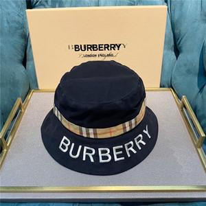 Primera marca de piel Carta Bucket Hat para mujer para hombre plegable Caps Negro Pescador Playa parasol plegable Venta Hombre Cap Bowler casquette