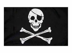 bones pirate skull crossbones flag Blue 5x3FT 150x90cm Polyester Printing Indoor Outdoor Flag With Brass Grommets Free Shipping