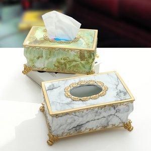 Creative Resin Imitation Marble Hotel Club Tissue Box Y