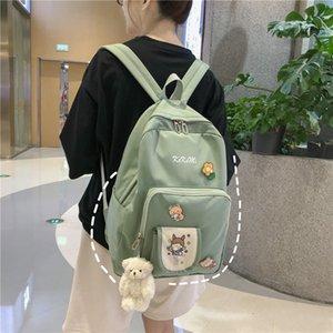 nylon imperméable Femmes Sacs à dos Collège Junior High School Sacs pour les adolescentes étudiant Bookbag voyage mochilas mujer 2020