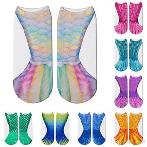 3D Fish Tail Sock Animal Mermaid Cotton Socks Shallow Mouth Foot Sleeve Cosplay Scale Decorative Pattern Funny 2 5elb1a