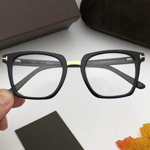 잘 생긴 유니섹스 스타일 T5523 안경 프레임 스퀘어 판금 금속 52-20-145 유니섹스 처방 안경 데모 렌즈 풀세트 케이스 OEM 아울렛