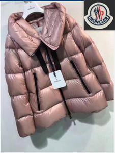 Rivestimento delle donne delle signore di inverno reale Raccoon Fur Collar anatra giù all'interno cappotto caldo Femme con tutta la modifica e l'etichetta
