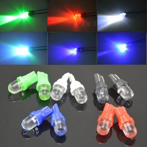 100PCS / Lot Universal-T10 LED W5W 158 168 194 501 12V Auto-LED Side Armaturenbrett Keil-Glühlampe 5 Farben vorhandenes freies Verschiffen