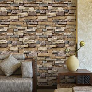 15x 3D Brick Stone PVC Self Adhesive Wall Sticker Roll Wallpaper Wall Decor