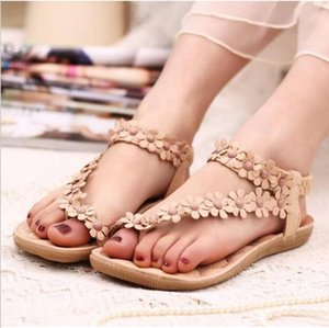 Dartin Partin New Fashion Women Shoes Flats Sandals Female Girl Casual PU Leather Flower Floral Beach slides MB8745962123 T200703