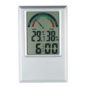 أدوات رقمية رطوبة ميزان الحرارة حديقة الرطوبة درجة الحرارة متر ماكس مين القيمة المنبه الراحة مستوى الاختبار