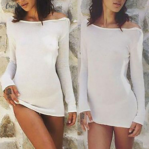 Womens Holiday Mini Ladies Summer Beach Backless Dress Ladies Women Sexy Dresses Solid Long Sleeve Size 6 14