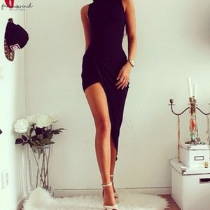 Women Backless Basic Dresses Sleeveless Slim Vestidos Vest Tanks Bodycon Dress Strap Solid Party Dress Sundress O Neck 5.2 Yl