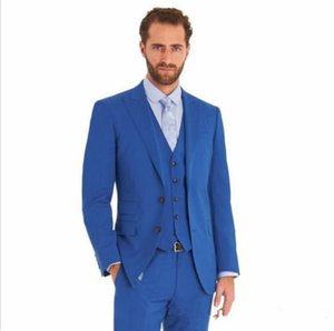 Custom made three pieces groom tuxedos real picture wedding suits for men Groom Groomsmen Tuxedos mens wedding suits (Jacket+Pant+Vest+Tie)