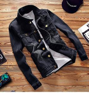 Shanghai Story vintage Jacket Autumn Men Full Sleeve Denim Wash Jean Jacket plus Size Men's denim jacket M-5XL