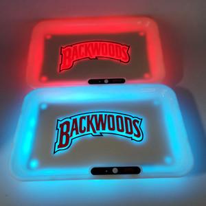 불모지 발광 트레이 충전식 롤링 담배 트레이 1800MAH 내장 배터리 LED 라이트 Glowtray 급속 충전으로 선물 포장 쿠키