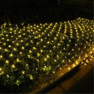 Fada da corda decoração Led Net Lights110V- 220V casamento do Natal Luz ao ar livre férias Festival multi Outdoor Lâmpada Jardim CRESTECH