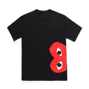 COM DES G GARCONS CDG HOLIDAY Heart Emoji PLAY Japanese brand embroidery Christmas peach limited edition T-shirt cotton short sleeved