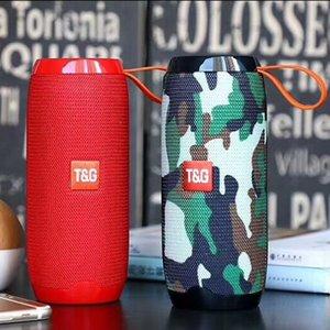 Hot vente TG106 Président Tissu Brillant Qualité sonore Double Klaxon multifonction HiFi Bluetooth haut-parleur portable sans fil