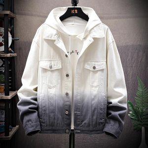 Men Denim Jacket Trendy Fashion Hip Hop Streetwear Color matching Denim Jackets Mens Casual Jean Jacket Male Cowboy Coats M-5XL