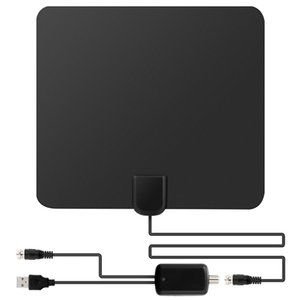 High Gain Freeview HD Digital TV Antenna Indoor Television Aerial Amplifier 50 Mile Range Flat Design for HD TV DTV Box