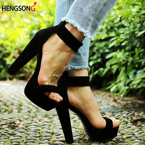 2019 Nuevas Mujeres Atractivas Bombas Sandalias de Moda Zapatos de Fiesta Tacón Alto 16 Cm Sandalias Peep Toe Anillo Trenzado para el Pie Sandalias de Correa de Tobillo