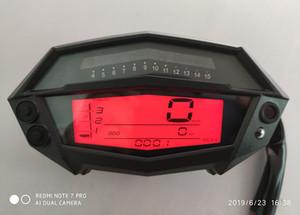 TKOSM Motocicleta DC 12 V LCD Digital Tacómetro Ajustable Velocímetro Odómetro Indicador de Combustible Para Kawasaki Z1000 299KMP