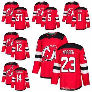 Hockey sur glace 11 Brian Boyle 44 Miles Bois Jersey 37 Pavel Zacha 12 Ben Lovejoy 23 Stefan Noesen Dalton Prout New Jersey Devils