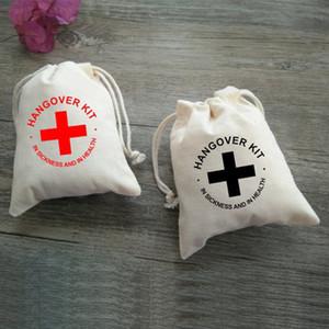 100pcs pur coton blanc cordon gueule de bois kit sac faveur de mariage sac bijoux emballage cadeau pochette sachets de noël sac de bonbons