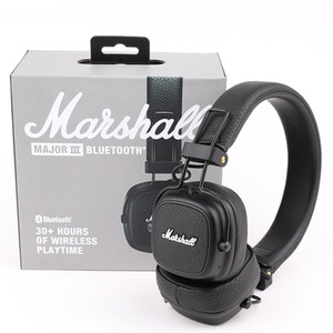 Marshall Major III 3.0 Cuffia Bluetooth Bluetooth con microfono Deep Bass Hi-Fi DJ Headset wireless Box di vendita al dettaglio DHL spedizione gratuita
