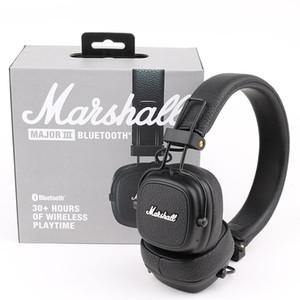 Marshall Maior III 3.0 Fone de Ouvido Bluetooth com Mic Bass Hi-Fi DJ Headset Wireless Professional Caixa de varejo DHL Frete grátis