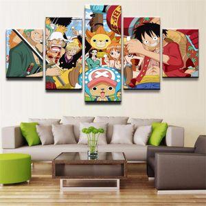 Anime, One Piece -6,5 Pieces Canvas Print 벽 예술 유화 홈 장식 (Unframed / Framed)
