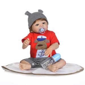 Bebe Reborn Cuerpo Completo de Silicona Reborn Baby Doll Juguetes 46 CM Niño Recién Nacido Bebé Regalo de Cumpleaños Regalo de Navidad Bañar Juguete para niños