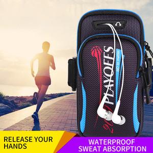 7.4 inch Belt Sports Running Armband Bag Case Zipper Wallet Purse Phone Pocket Outdoor On Hand Gym Fitness Men Women Bag Cover