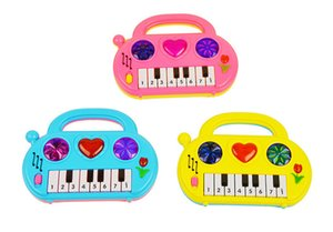 Cartoon portable electronic organ children's puzzle toys early education infants music toys children's toy piano wholesale