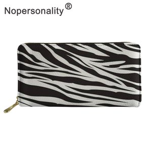 Nopersonality Zebra Print Fashion Women Wallet Female Wallet Purse Multifunction Women's Purse Card Holder Money Bag Long