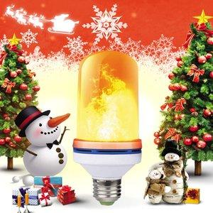 4 modalità bulbo sensore + gravità fiamma luce LED E27 effetto fiamma fuoco 8W lampeggiante decorazione atmosfera simulazione luci di Natale Halloween