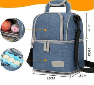 Mummy Backpack Maternity Nappy Bag Diaper Bag Thermal Insulated Lunch Bags Large Capacity Outdoor Travel Picnic Storage Bags GGA3243
