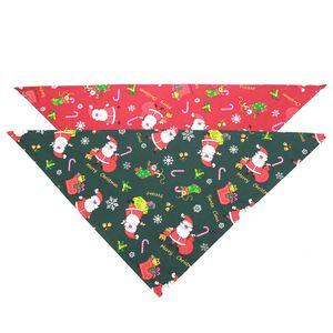 Weihnachten Hund Bandana Hunde-Lätzchen Schal waschbare weiche Baumwollweihnachtsmann Druck Welpen Kerchief Fliege Pet Grooming Zubehör DBC VT0994