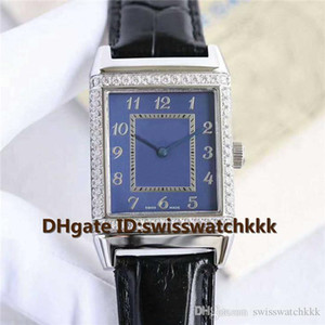 Новый Q2788520 часы швейцарский автоматический 21600VPH сапфировое стекло бриллиантовый безель 316L стальной корпус ремешок из телячьей кожи мужские часы Водонепроницаемые 100 м