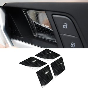 Car Accessories Molding Inner Door Bowl Wrist Trim Sticker Cover Frame Interior Decoration for Audi A4 A5 S4 S5 B9 2017-2020