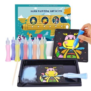 Children's Sand Painting Toy Suit Color Sand Bottles DIY Cartoon Sand Painting Toy Kids Arts and Crafts Toys Kids Gift