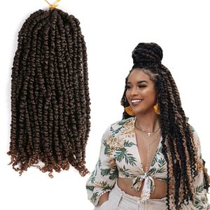 New Pre Stretched Kanekalon Ombre Braiding freetress Hair Crochet Braid synthetic pre twisted passion twist crochet hair for women
