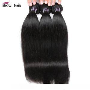 10A Mink brasileira Hetero Cabelo Humano 3 Pacotes com laço Encerramento não transformados peruana indiano virgem do cabelo Hot Sale da Malásia Weave Pacotes