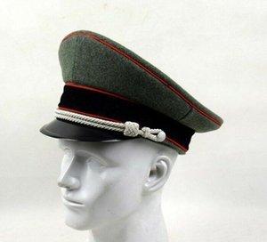 무료 배송 WW2 차 세계 대전 독일어 SS 엘리트 군사 육군 장교 서비스 챙 모자 캡 Armyshop2008 야외 모자