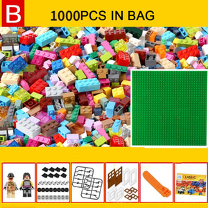 1000pcs Junior Basic Classic Medium Brick Building Blocks Kleine Blau Kinder pädagogisches Spielzeug Kompatibel mit Top-Marke