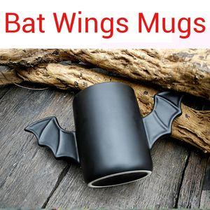 Cool Black Bat Wings Mugs man Cup Tazza in ceramica Fly Double Hero Creativo Compleanno Festival Regali per amici Relativo