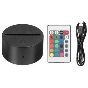 3D Illusion Lambası 4mm Akrilik Işık Paneli Pil veya DC 5V USB 3D geceleri için RGB Işıklar LED Lamba Bankası Uzaktan kumanda ile ışıkları