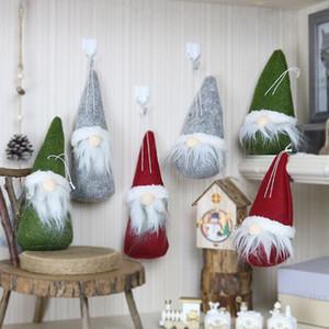Noel Ağacı Elf Oyuncak Ev Partisi Dekor Asma Merry Christmas Uzun Şapka İsveçli Santa Gnome Peluş Bebek Süsleme
