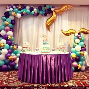 42pcs Русалка Balloon Arch Набор Русалка хвост шар Русалочка партия украшение Поставка Свадебный именинница Decor партии