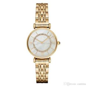 Envío de la gota mujeres miran AR1907 AR1908 AR1909 AR1925 AR1926 superior del cuarzo de la calidad relojes de pulsera de acero inoxidable Diamond moda del reloj