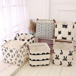INS Print Foldable Storage Buckets Giocattoli per bambini Vestiti sporchi Borsa portaoggetti Secchio lavabile scatola decorazione della casa C5919